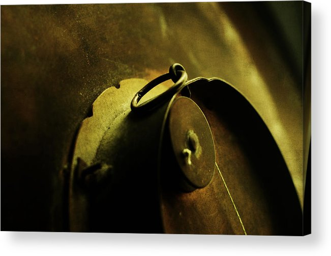Conceptual Acrylic Print featuring the photograph Behind Closed Doors by Rebecca Sherman