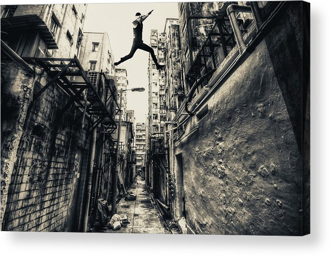 Street Acrylic Print featuring the photograph Behind Street by Junites Uno