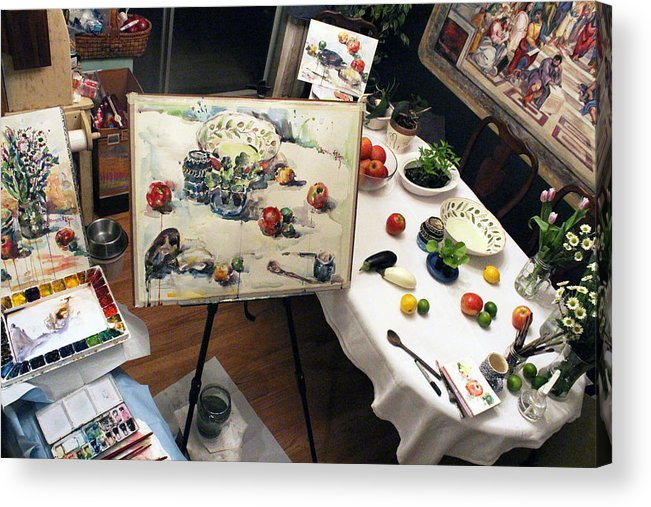 Photograph Acrylic Print featuring the photograph Behind The Scene by Becky Kim
