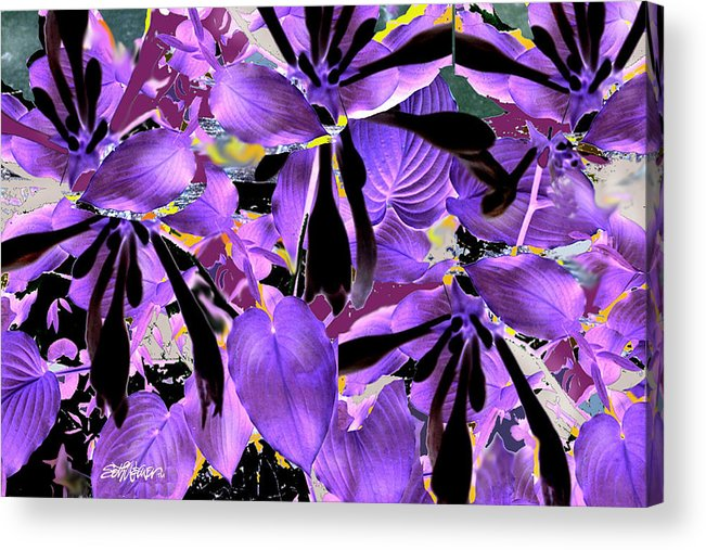 Beware The Midnight Garden Acrylic Print featuring the digital art Beware The Midnight Garden by Seth Weaver
