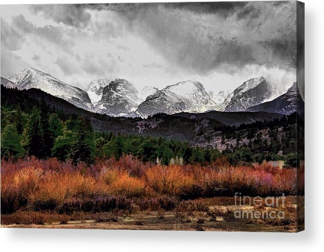 Rocky Mountain National Park Acrylic Print featuring the photograph Big Storm by Jon Burch Photography