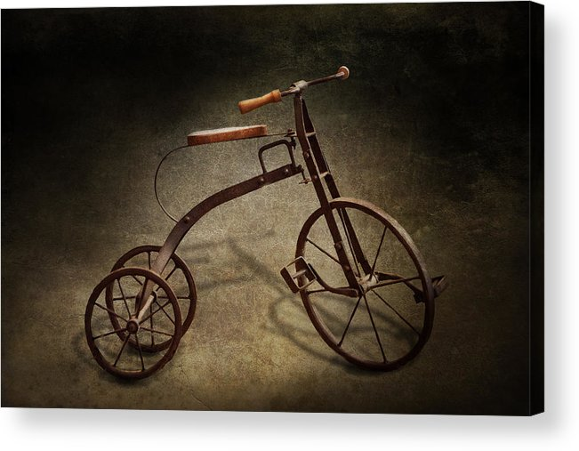 Hdr Acrylic Print featuring the photograph Bike - The Tricycle by Mike Savad