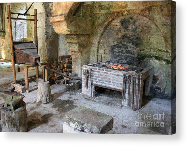 Blacksmith Acrylic Print featuring the photograph Blacksmiths Workshop by Christiane Schulze Art And Photography