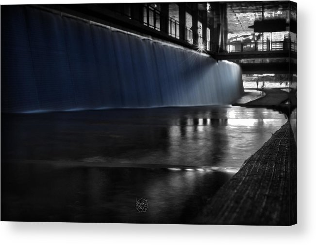 Blue Acrylic Print featuring the photograph Blue Cascade by Brian Archer