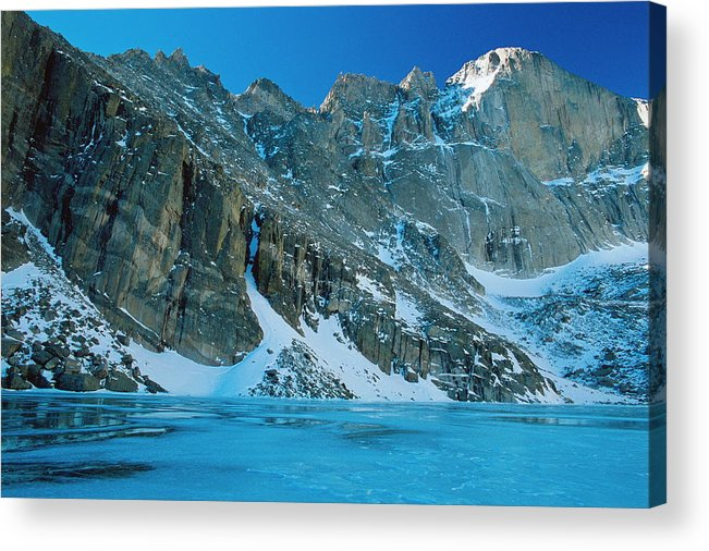 Landscapes Acrylic Print featuring the photograph Blue Chasm by Eric Glaser