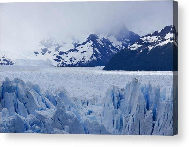 Argentina Acrylic Print featuring the photograph Blue Ice by Michele Burgess