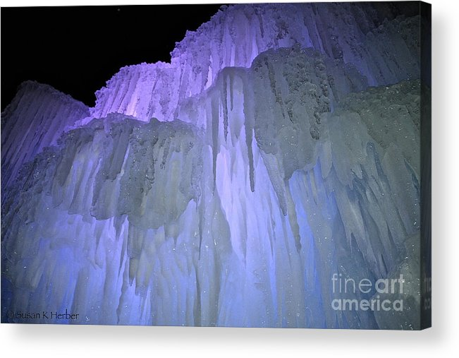 Ice Acrylic Print featuring the photograph Blue Violet Ice Mountain by Susan Herber