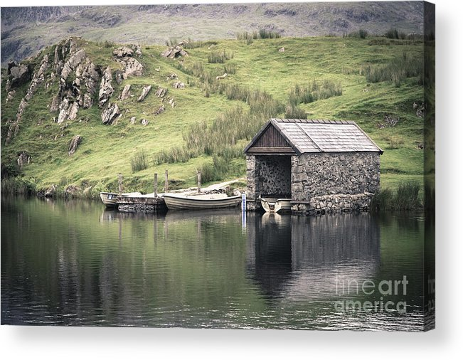 Boat Acrylic Print featuring the photograph Boathouse by Jane Rix