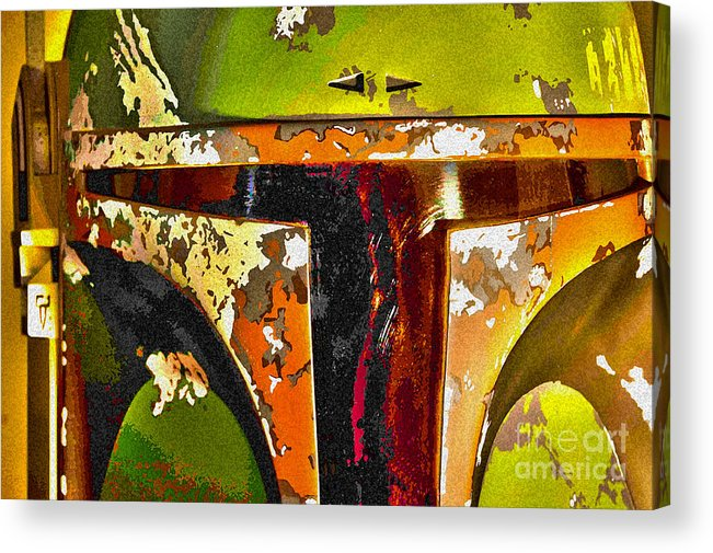 Boba Acrylic Print featuring the photograph Boba Fett Helmet 13 by Micah May