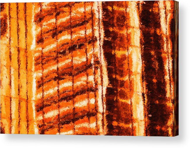 Building Acrylic Print featuring the painting Body Heat by Inspirowl Design