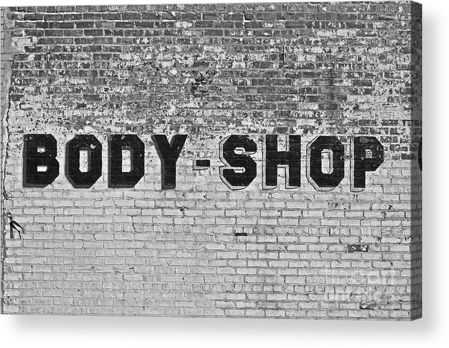 Black Acrylic Print featuring the photograph Body Shop by Valerie Fuqua