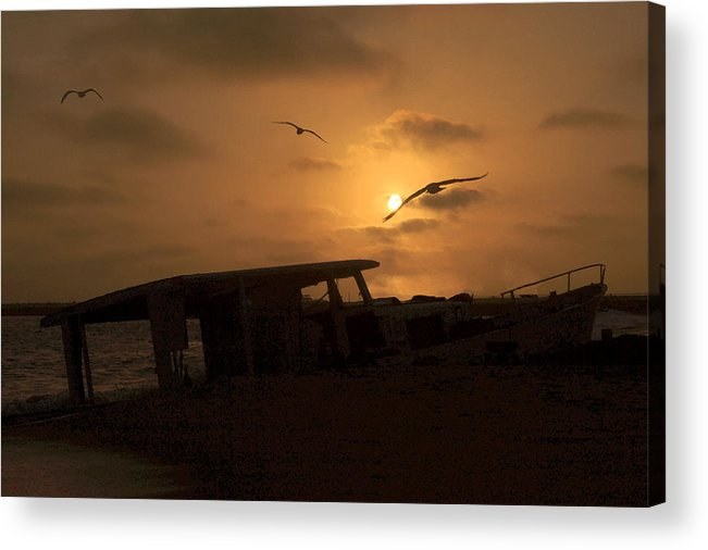 Boat Acrylic Print featuring the photograph Bouncing Betty Beached by Lorenzo Williams