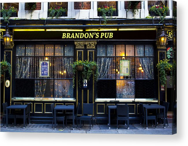 Brandon Acrylic Print featuring the photograph Brandon's Pub by David Pyatt