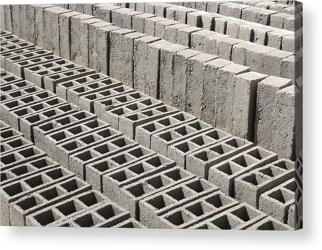 Brick Acrylic Print featuring the photograph Bricks Drying In The Sun by Robert Hamm