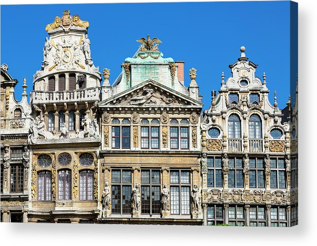 Arch Acrylic Print featuring the photograph Brussels, Grand Place by Sylvain Sonnet