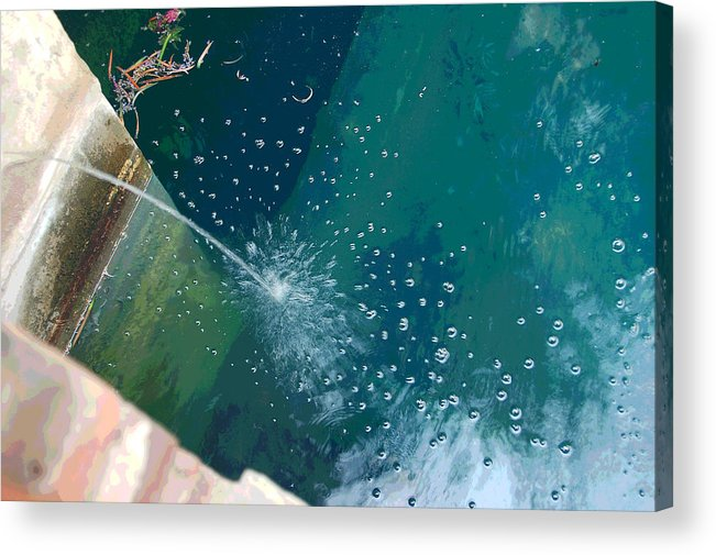 Digital Art Acrylic Print featuring the photograph Bubble Abstract by Suzanne Gaff