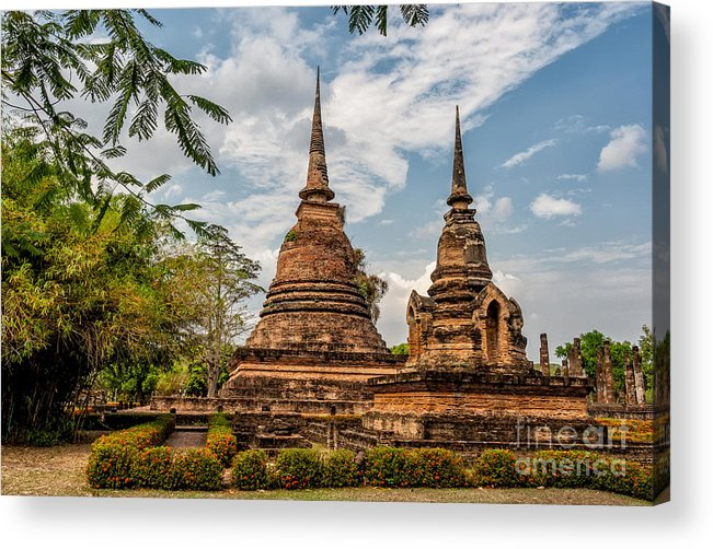 Temple Acrylic Print featuring the photograph Buddhist Park by Adrian Evans