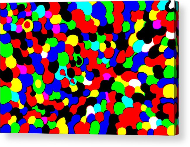 Colors Acrylic Print featuring the photograph Busy Heads by Christopher Rowlands