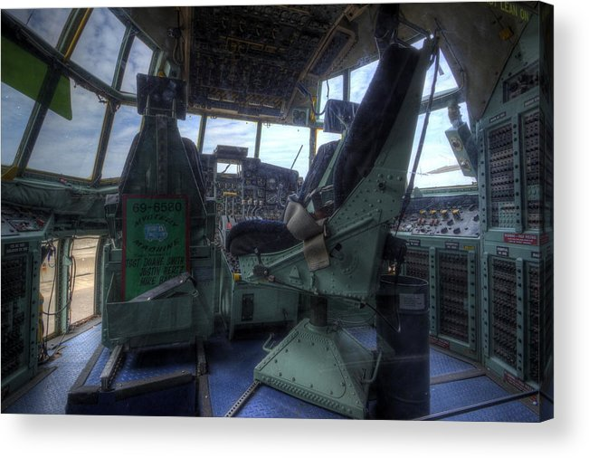 Lockheed Acrylic Print featuring the photograph C-130 Cockpit by David Dufresne