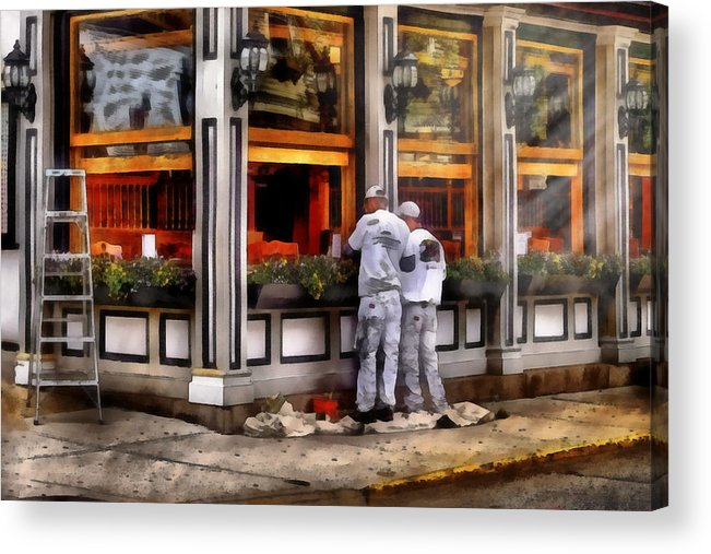 Savad Acrylic Print featuring the photograph Cafe - The Painters by Mike Savad