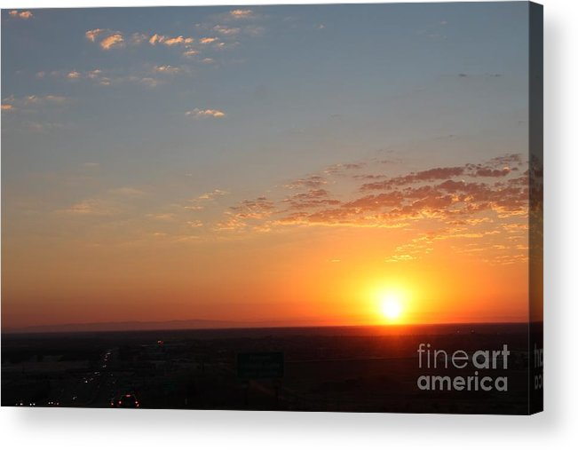 Acrylic Print featuring the photograph California Sunset by Amy Delaine