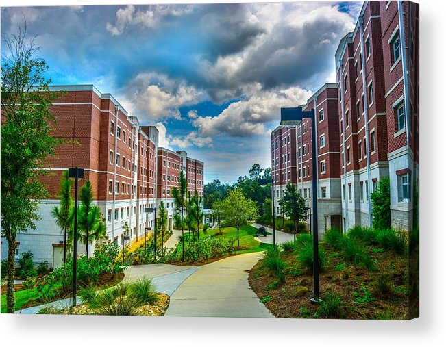 Uwf Acrylic Print featuring the photograph Campus Life by Jon Cody