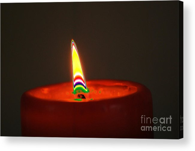 Candle Acrylic Print featuring the digital art Candle Light by Carol Lynch