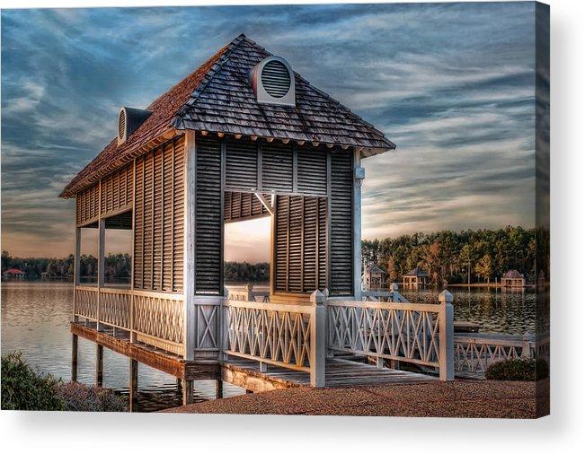 Canebrake Acrylic Print featuring the photograph Canebrake Boat House by Brenda Bryant