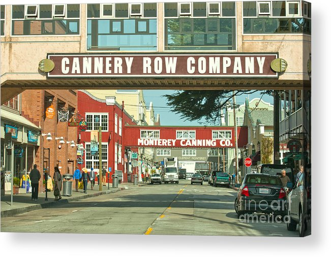 Monterey California Acrylic Print featuring the photograph Cannery Row Monterey California by Artist and Photographer Laura Wrede