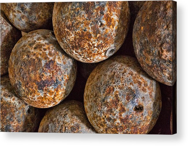 Cannon Balls Acrylic Print featuring the photograph Cannon Balls by Larry Fry