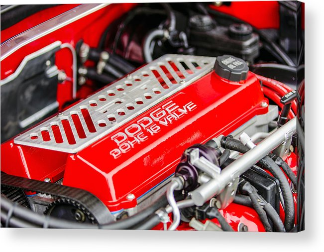 Dodge Acrylic Print featuring the photograph Car Show 025 by Josh Bryant