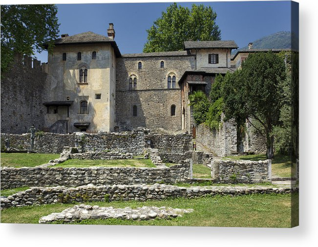 Switzerland Acrylic Print featuring the photograph Castello Visconteo by Radka Linkova