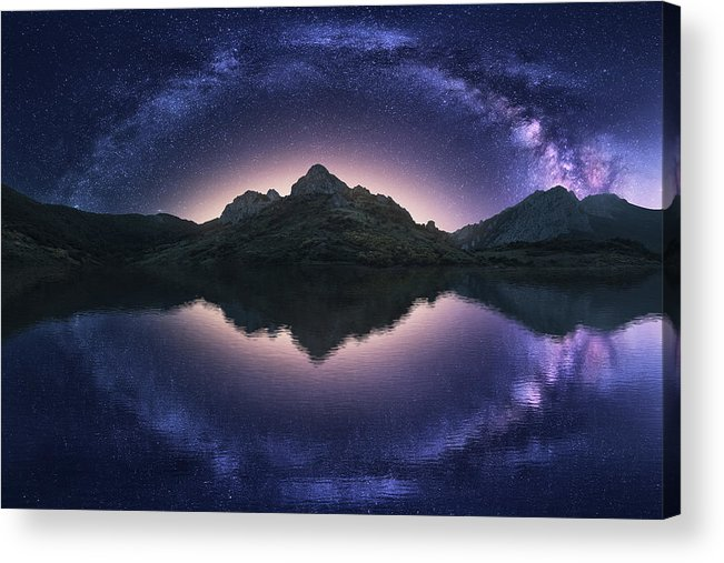 Night Acrylic Print featuring the photograph Celestial Illusion by Carlos F. Turienzo