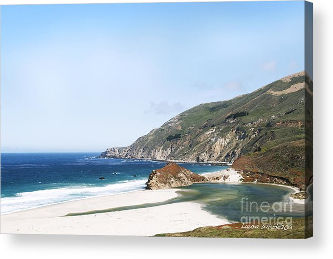 Big Sur Acrylic Print featuring the photograph Central Coast Beach Near Cambria And San Simeon by Artist and Photographer Laura Wrede