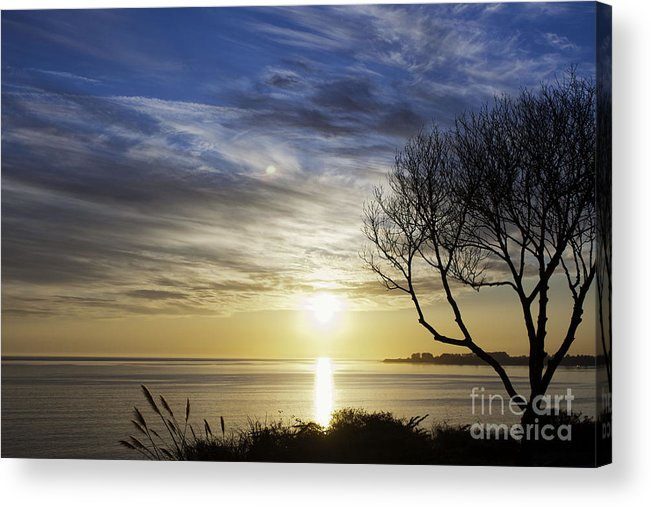 Print Acrylic Print featuring the photograph cf 519 A Sunset Over Monterey Bay by Chris Berry