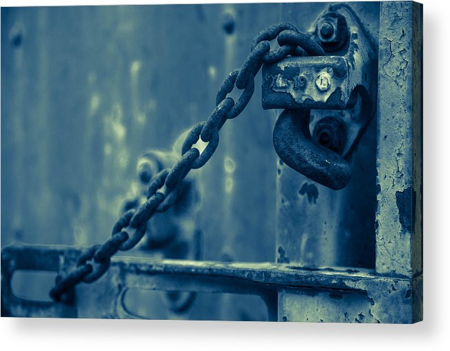 Train Acrylic Print featuring the photograph Chained And Moody by Toni Hopper
