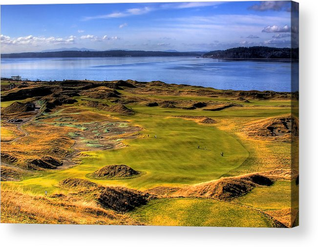 Chambers Bay Golf Course Acrylic Print featuring the photograph Chambers Bay Golf Course II by David Patterson