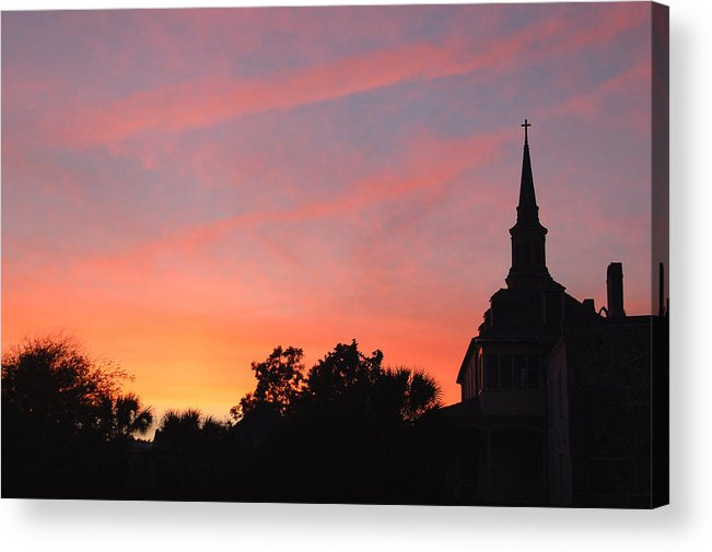 Charleston Acrylic Print featuring the photograph Charleston At Dusk by Suzanne Gaff