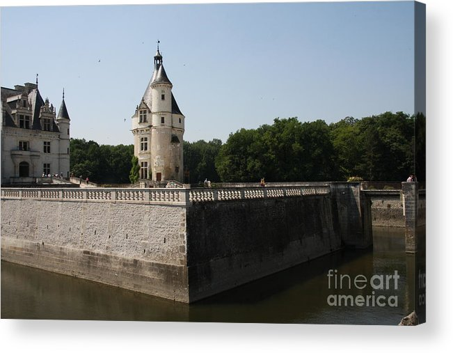 Castle Acrylic Print featuring the photograph Chateau And Moat Chenonceau by Christiane Schulze Art And Photography