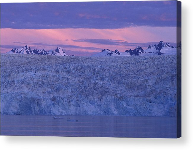 Glacier Acrylic Print featuring the photograph Chenega Glacier At Sunrise by Tim Grams