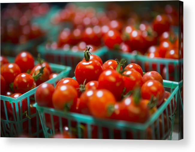 Tomatoes Acrylic Print featuring the photograph Cherry Tomatoes by Caitlyn Grasso