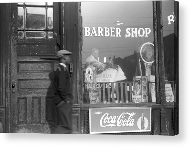 1941 Acrylic Print featuring the photograph Chicago Barber Shop, 1941 by Granger