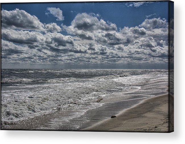Ocean Acrylic Print featuring the photograph Chincoteague Beach by Erika Fawcett