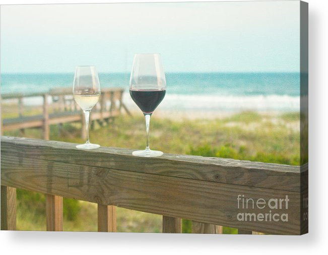 Wine Acrylic Print featuring the photograph Choices At The Beach by Kay Pickens