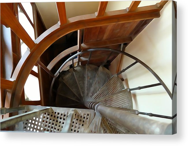 Spiral Acrylic Print featuring the photograph Church Stairs by Charlie and Norma Brock