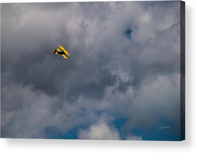 Circling Acrylic Print featuring the photograph Circling For 2nd Flyover by Mick Anderson