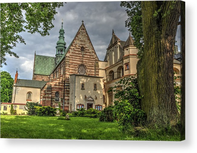 W�chock Acrylic Print featuring the photograph Cistercian Church From 12th And 13th Century In Wachock In Poland by Julis Simo