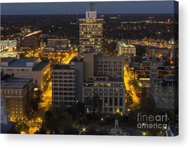 Suntrust Acrylic Print featuring the photograph City Hall Scape by Debra K Roberts