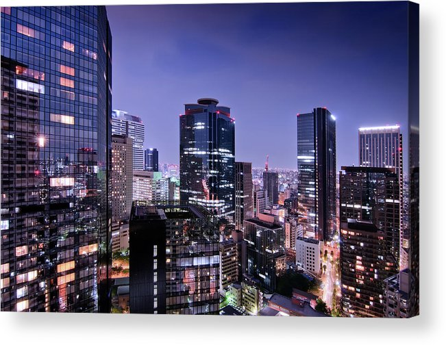 Built Structure Acrylic Print featuring the photograph City Of Glass And Light by Image Provided By Duane Walker
