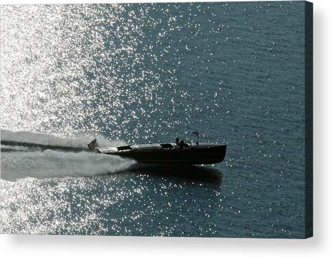 Riva Acrylic Print featuring the photograph Classic Woodie by Steven Lapkin